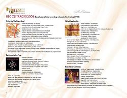 CD Track List