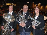 John Stark (center) pictured with BBC Pat and Diana Herak